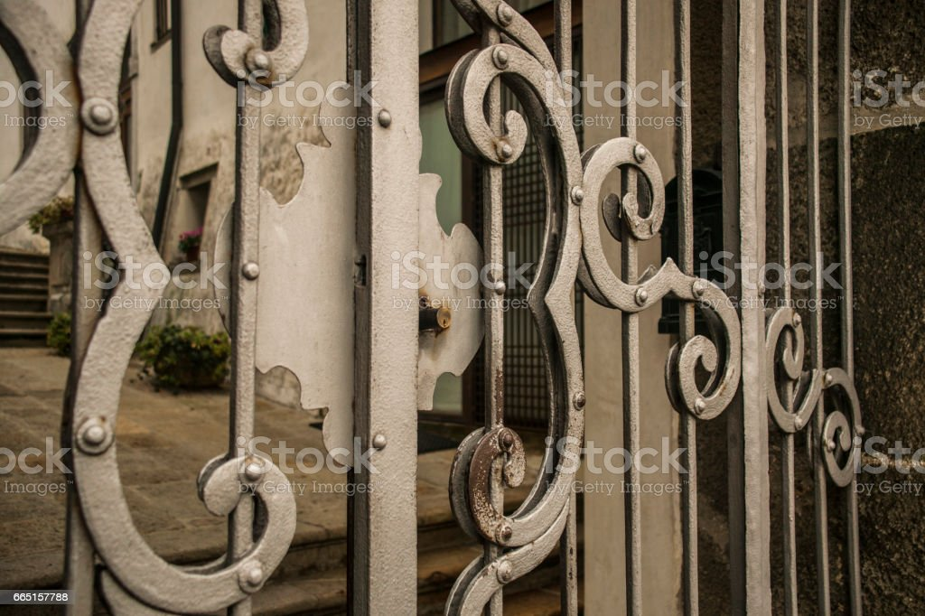 Detail of a lock stock photo