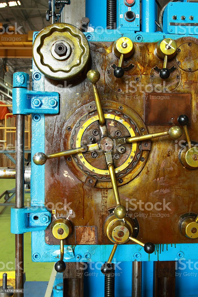 Detail of a machine royalty-free stock photo