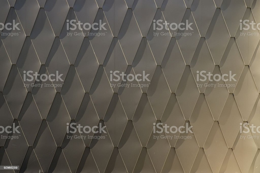 Detail of a metal roof royalty-free stock photo