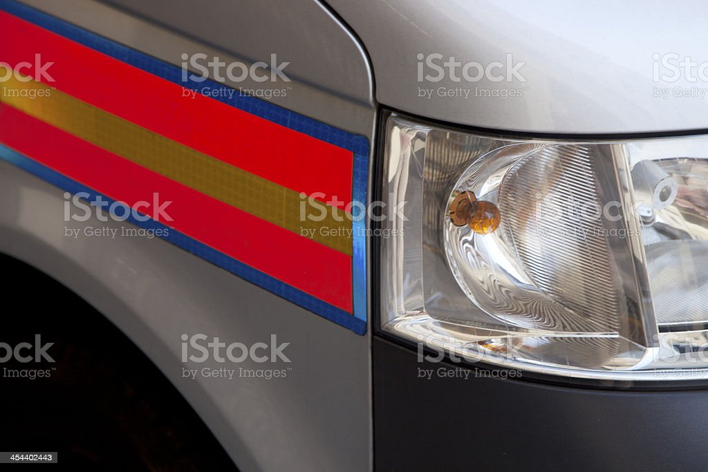 Detail of a modern British Police car stock photo