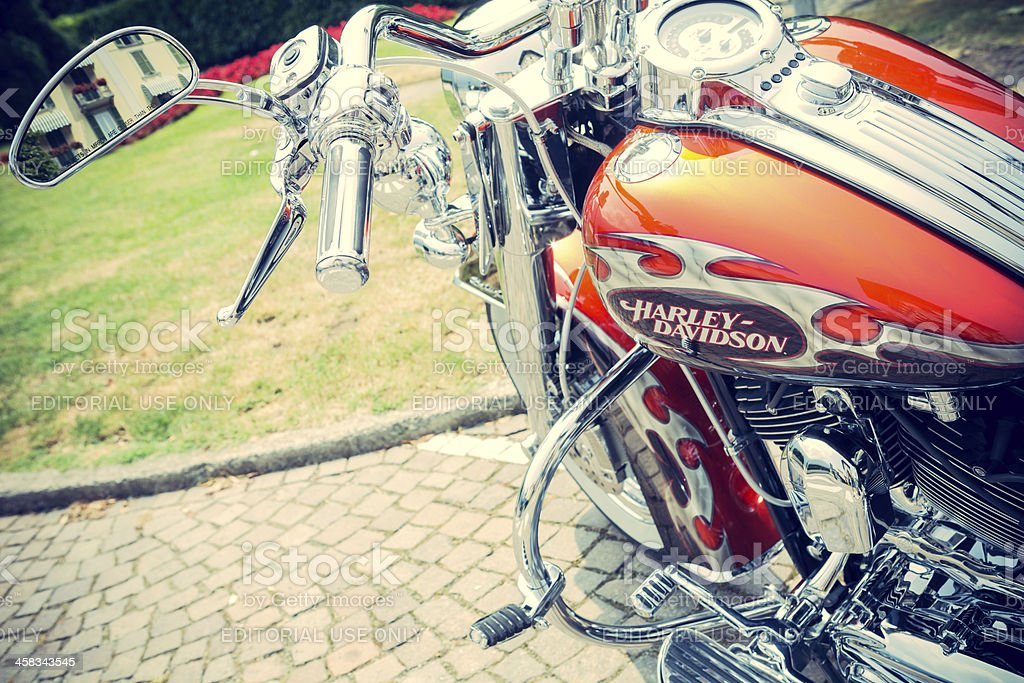 Detail of a motorcycle royalty-free stock photo