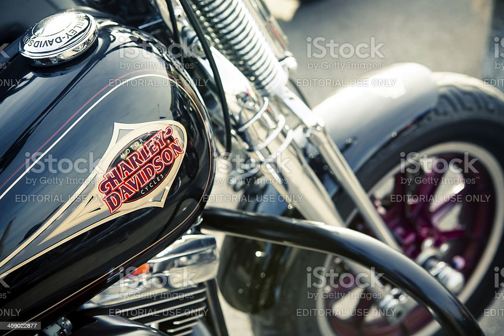 Detail of a motorcycle stock photo