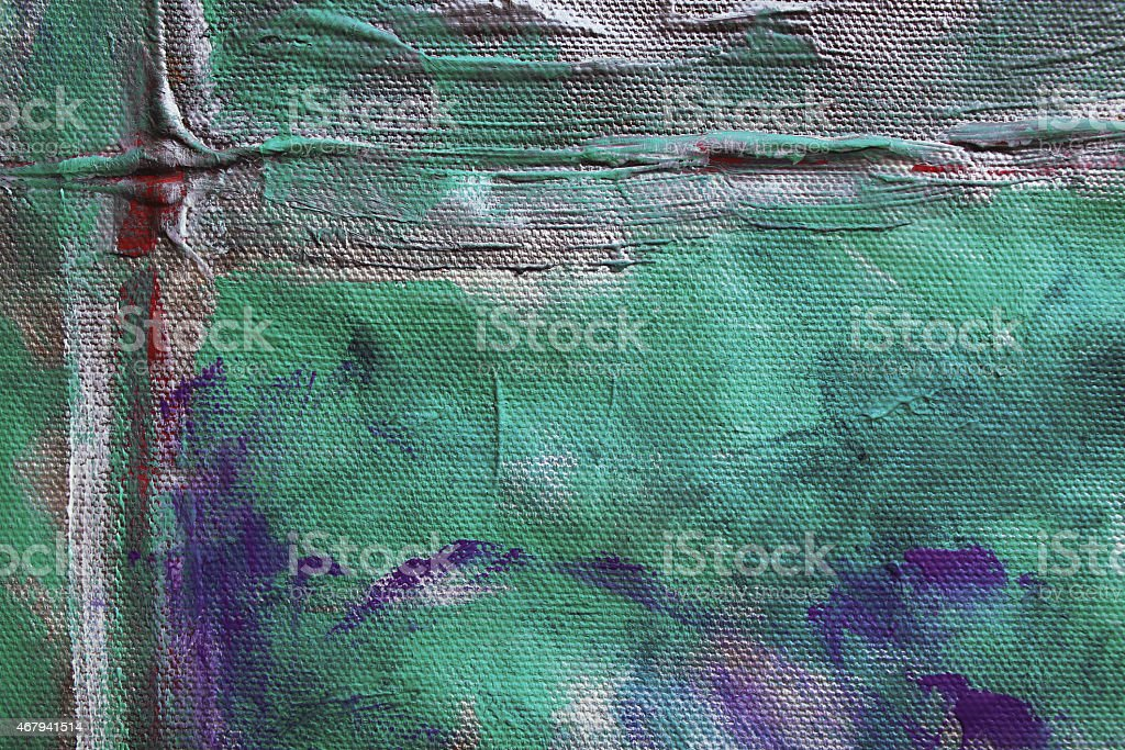 Detail of a multicolored acrylics painting. stock photo