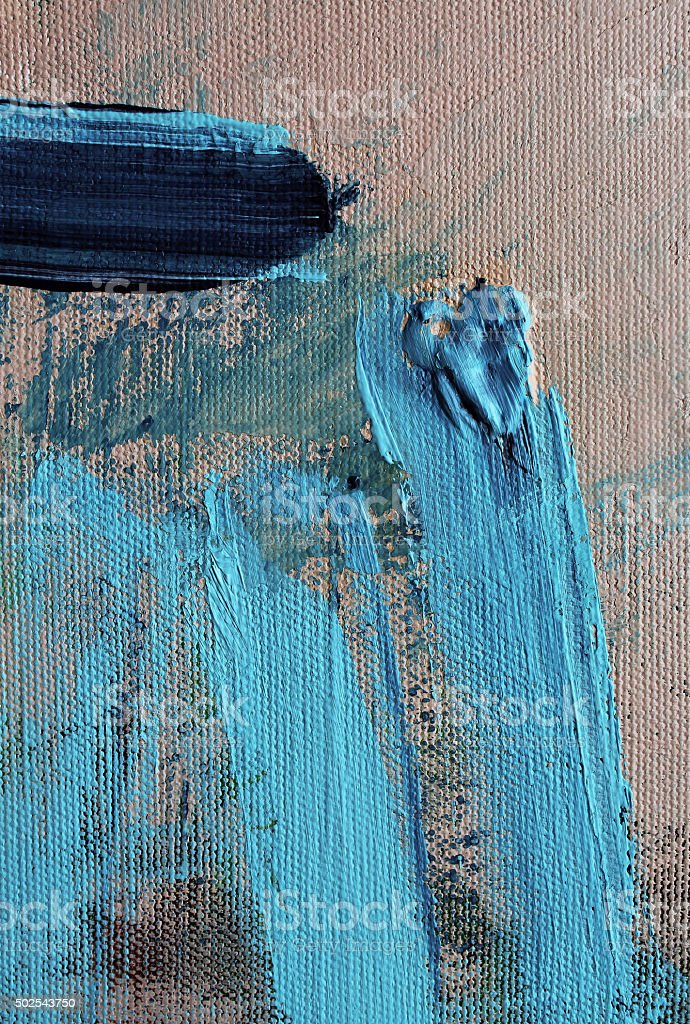 Detail of a multicolored acrylics painting stock photo
