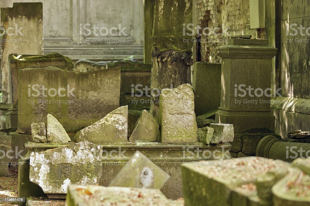 detail of a old graveyard in Berlin royalty-free stock photo