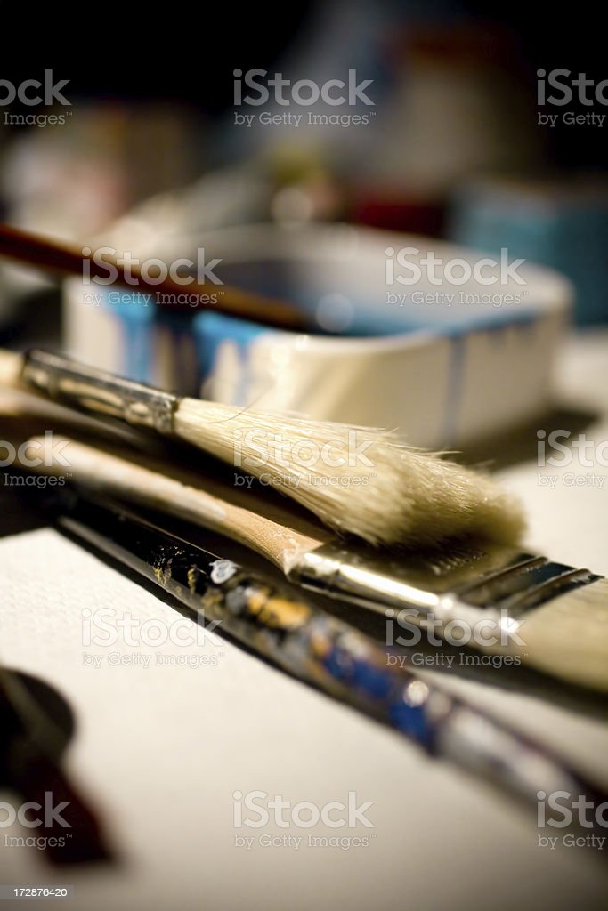 detail of a painter royalty-free stock photo