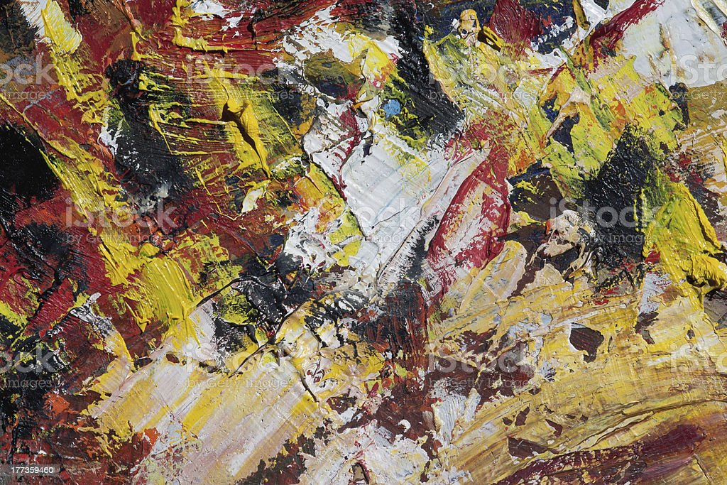 Detail of a painting royalty-free stock photo