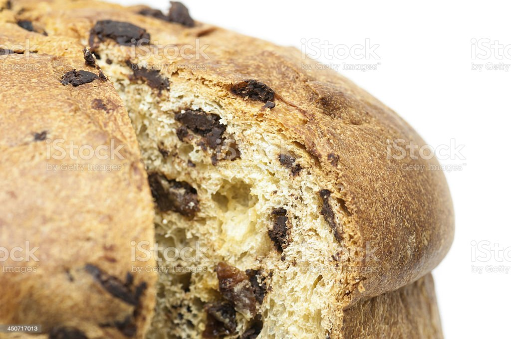 Detail of a panettone slice - Stock Image stock photo