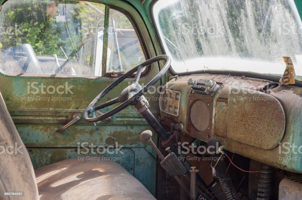 Detail of a pick up truck stock photo