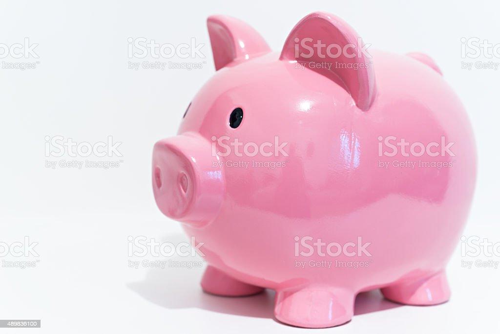 Detail of a piggy bank stock photo