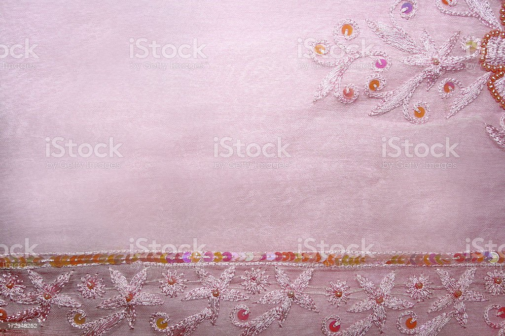 Detail of a pink vintage dress royalty-free stock photo