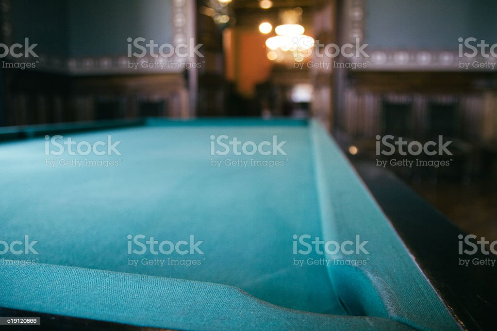 Detail of a pool table stock photo