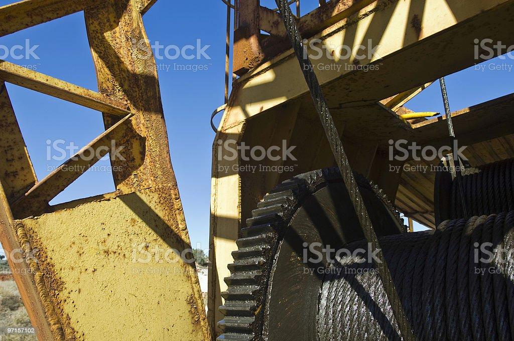 Detail of a quarry crane stock photo
