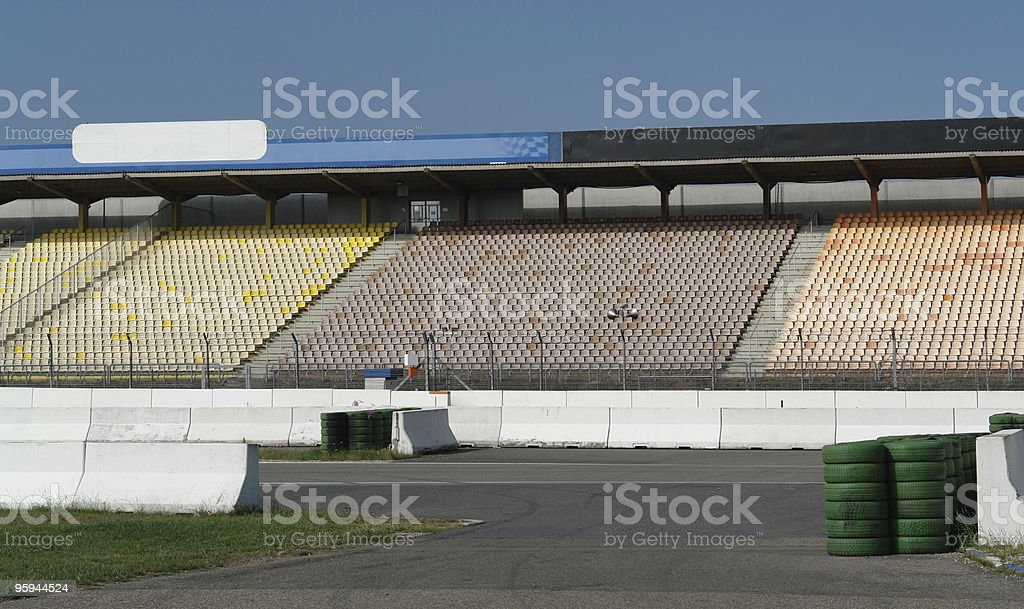 detail of a racetrack tribune royalty-free stock photo