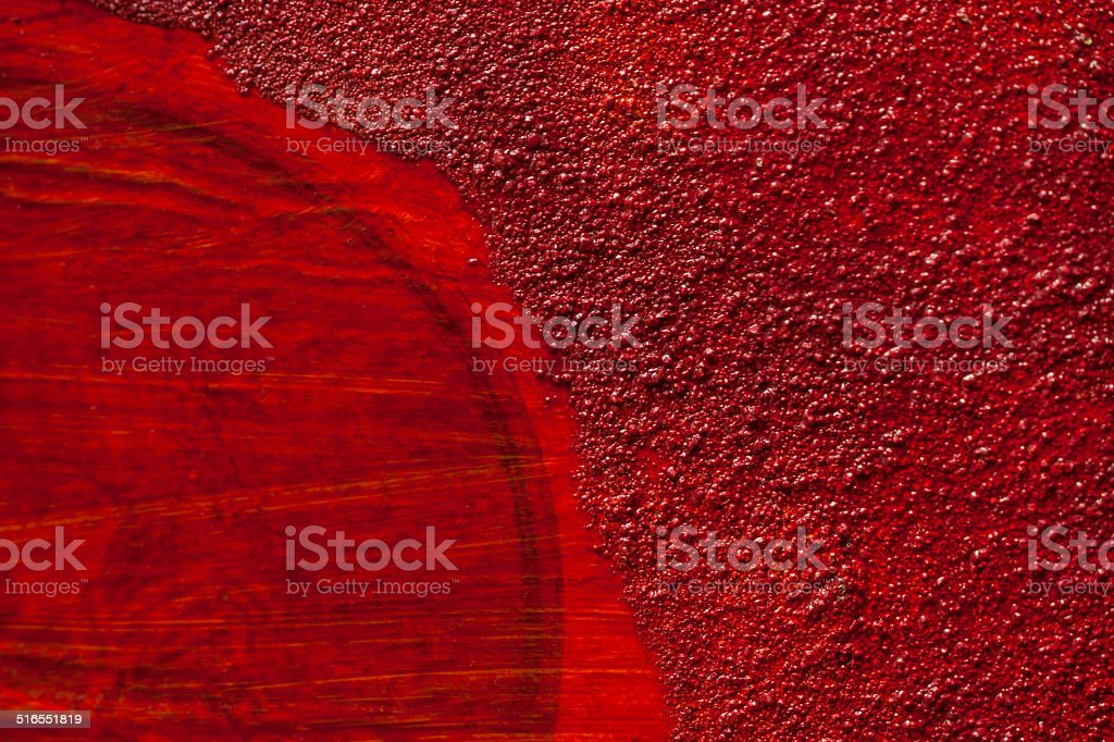 Detail of a red artistic wall structure royalty-free stock photo