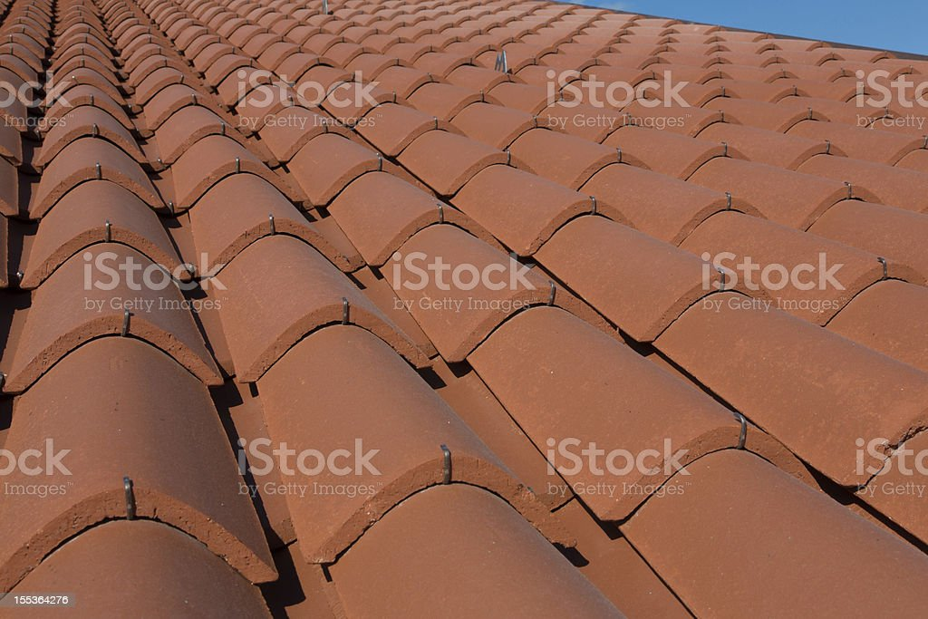 Detail of a roof royalty-free stock photo