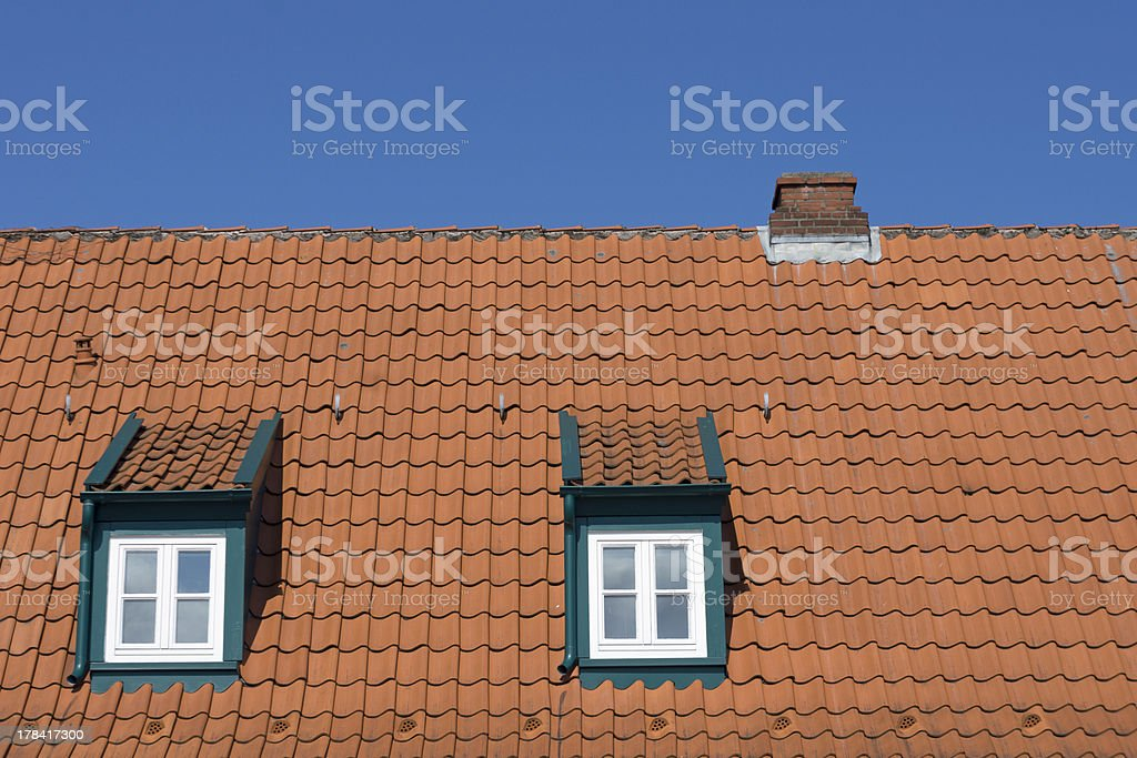 Detail of a roof stock photo