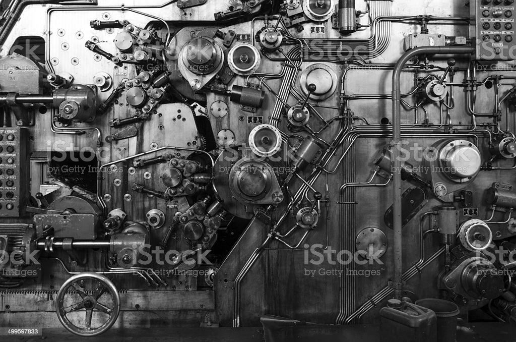 Detail of a rusted machine stock photo
