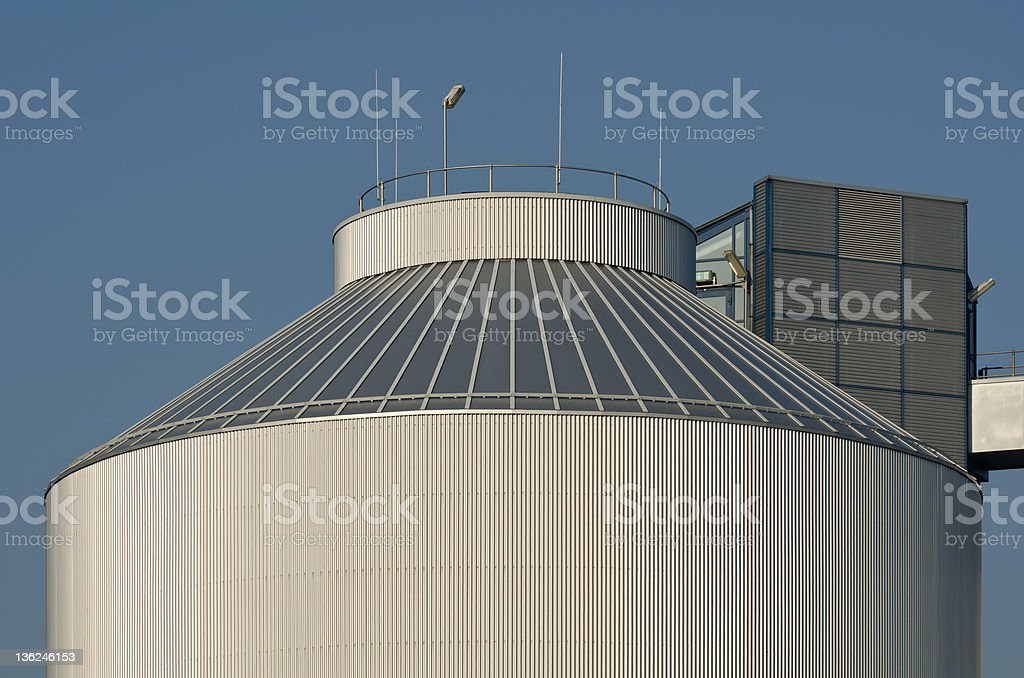 Detail of a silo, industrial plant stock photo