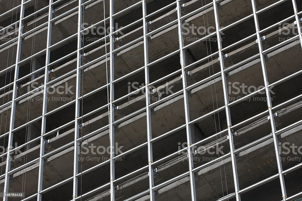 Detail of a Skyscraper Under Construction stock photo