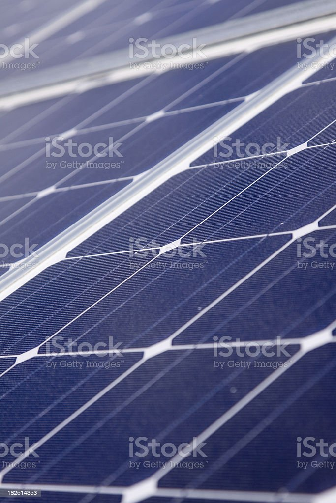 Detail of a solar panel royalty-free stock photo