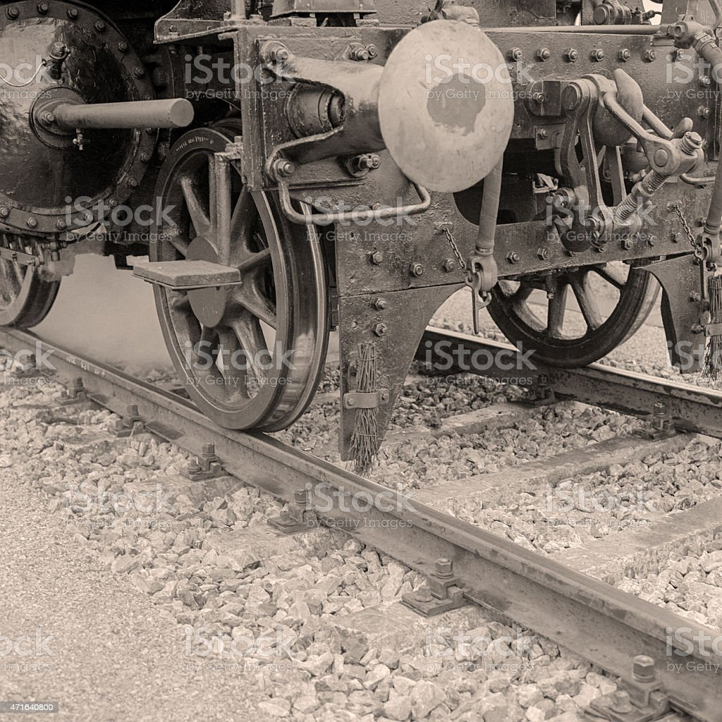 Detail of a steam locomotive royalty-free stock photo