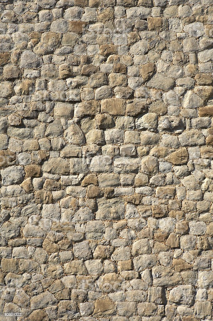 detail of a stone wall royalty-free stock photo