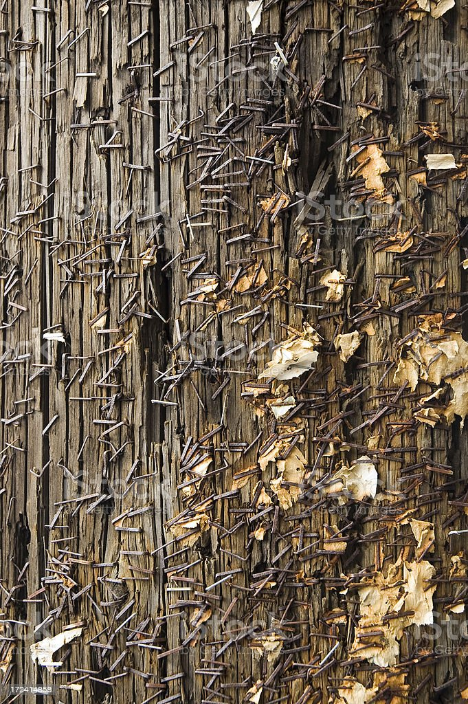 Detail of a telephone pole royalty-free stock photo