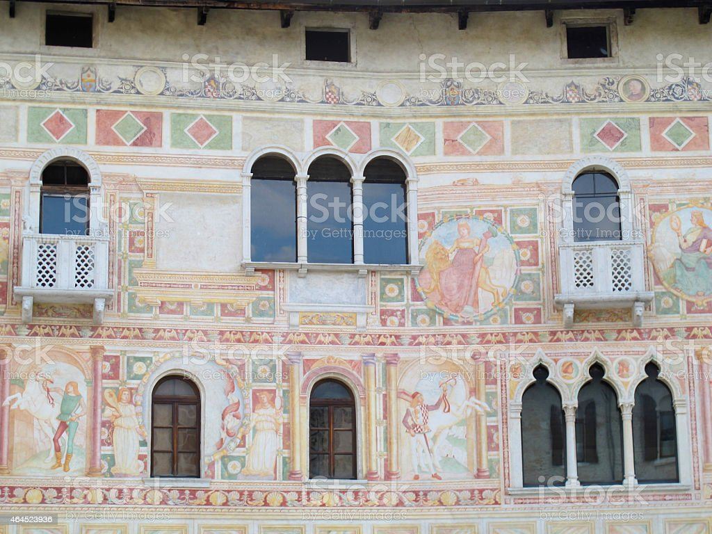 Detail of a Venetian-style Building, Italy stock photo