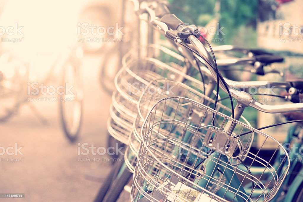 Detail of a Vintage Bicycle stock photo