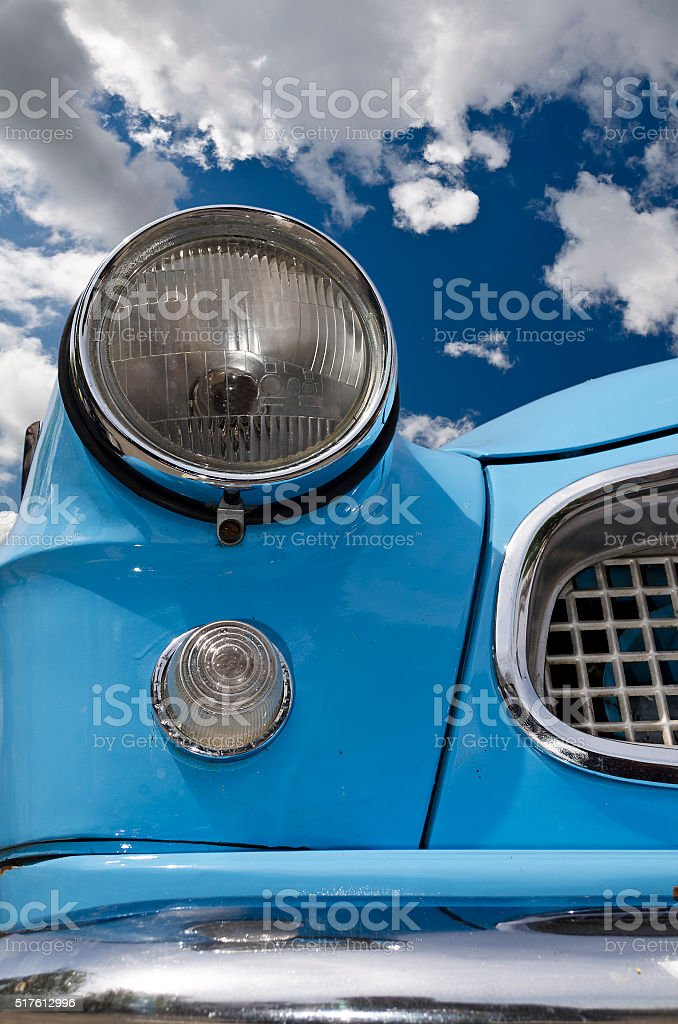 Detail of a vintage car light in colours stock photo