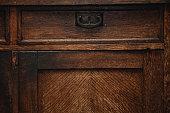 detail of a vintage cupboard (sideboard)