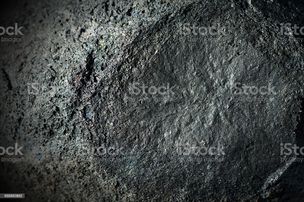 Detail of a Volcanic Rock - Etna Italy stock photo