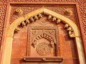 Detail of a wall in Jahangiri Mahal, Agra Fort