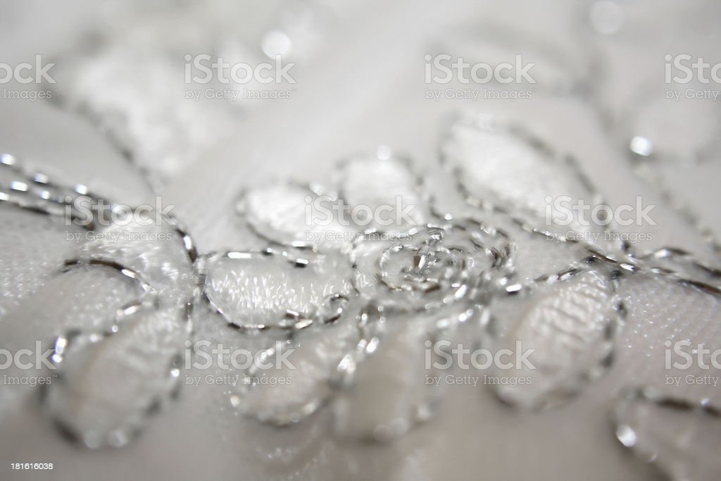 Detail of a wedding dress royalty-free stock photo