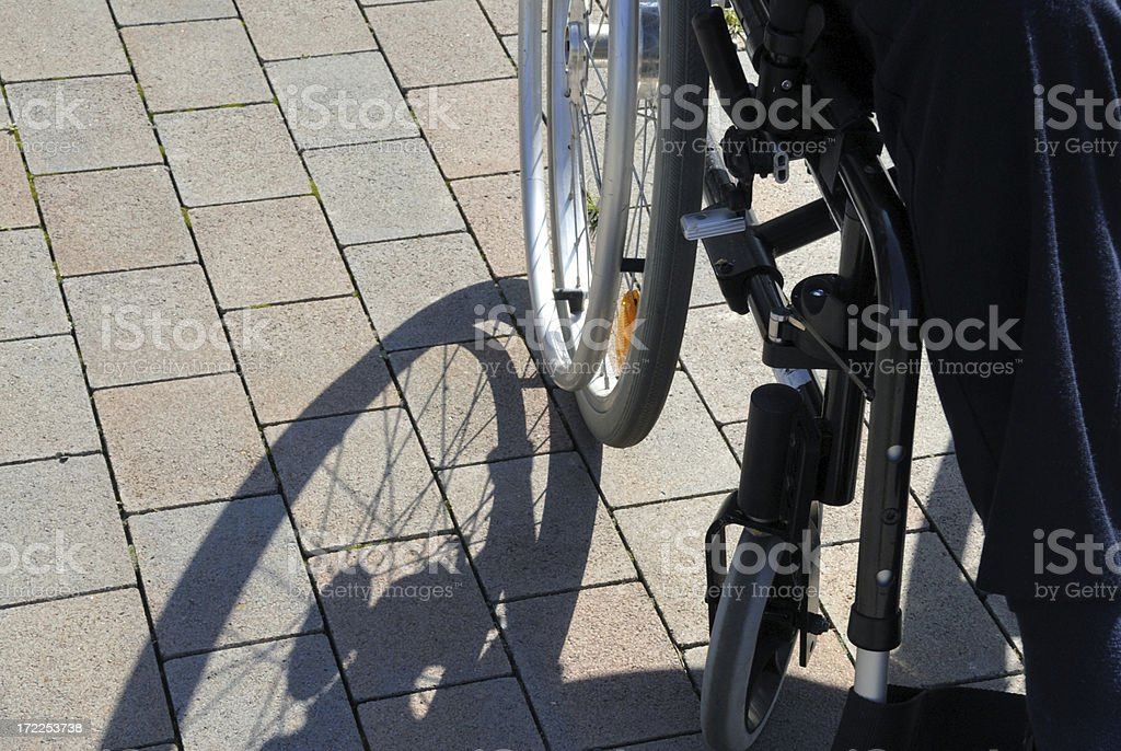 detail of a wheelchair royalty-free stock photo