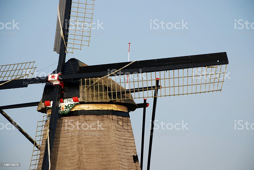 Detail of a windmill royalty-free stock photo