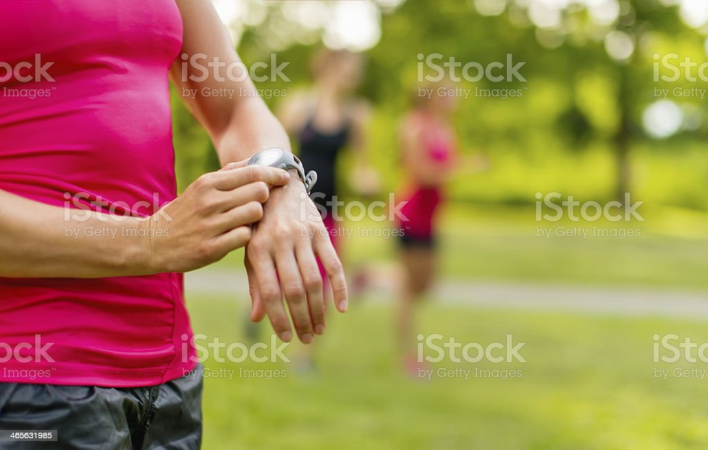detail of a woman's watch stock photo