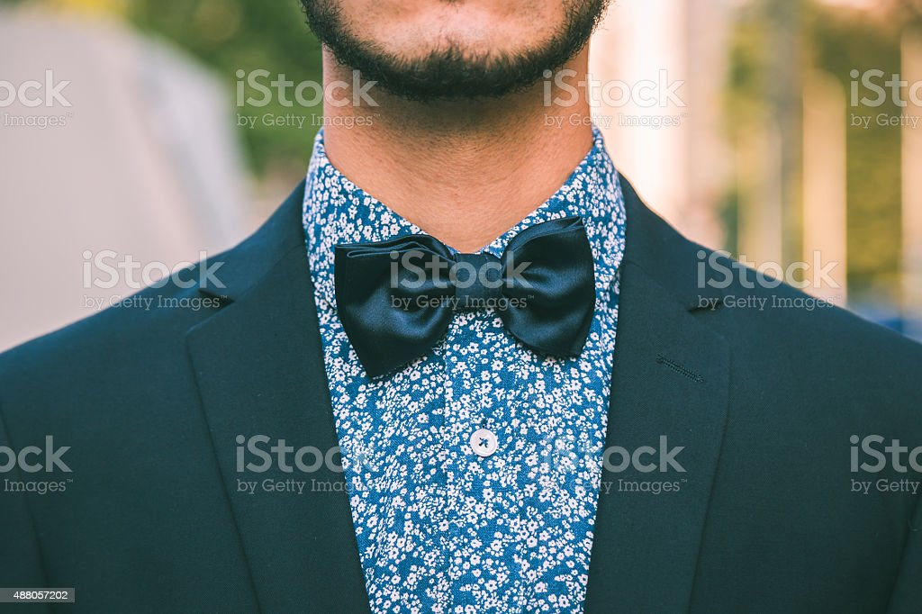 Detail of a young handsome man posing stock photo