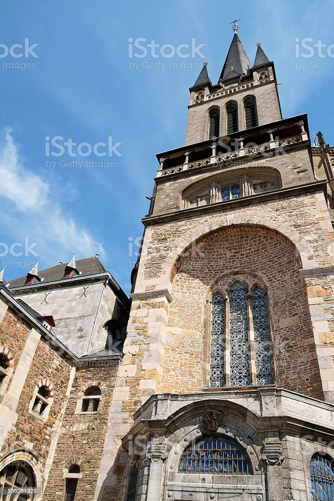 Detail of Aachen Cathedral stock photo