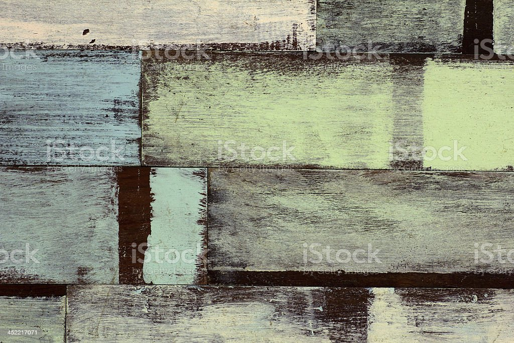 detail of abstract art color wood wall white blue royalty-free stock photo