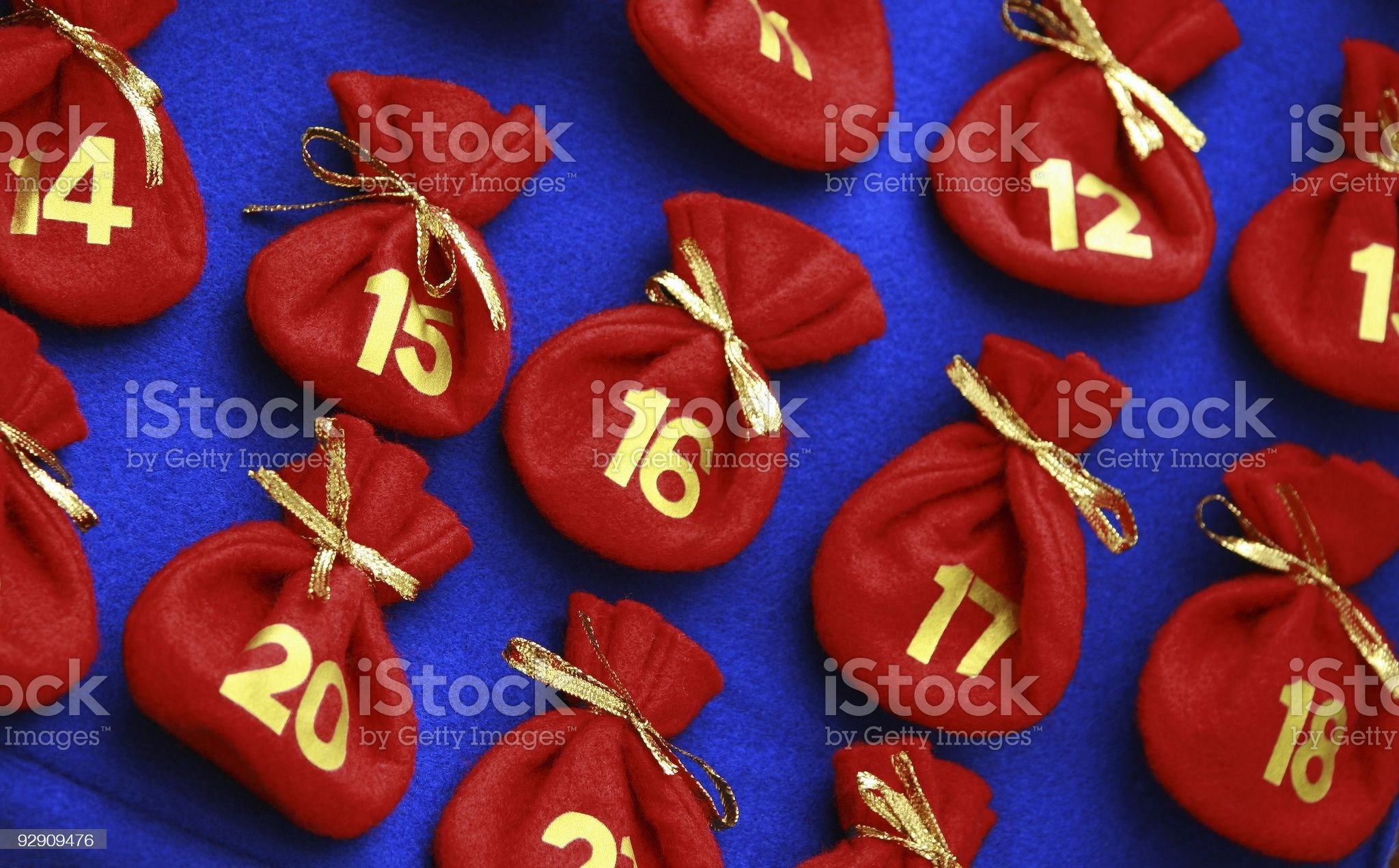 Detail of Advent Calendar royalty-free stock photo