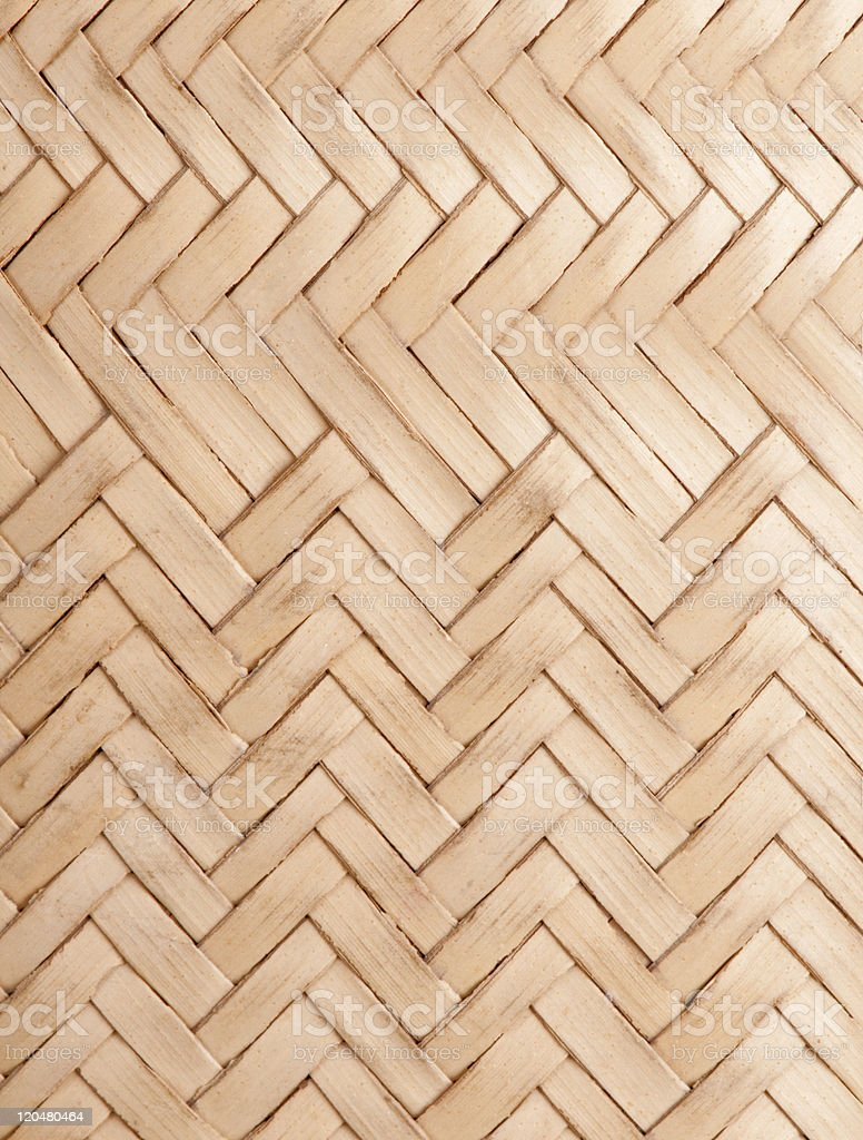 Detail of African coconut palm leaf bag. royalty-free stock photo