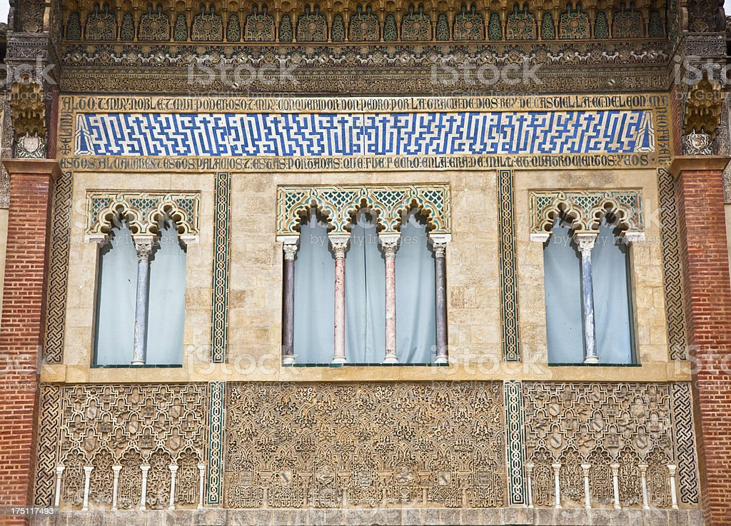 Detail of Alcazar, Seville, Andalusia, Spain royalty-free stock photo