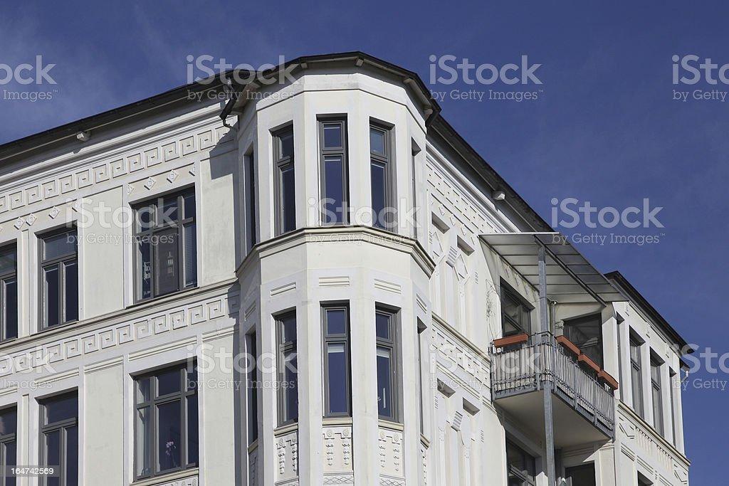 detail of an art nouveau townhouse stock photo