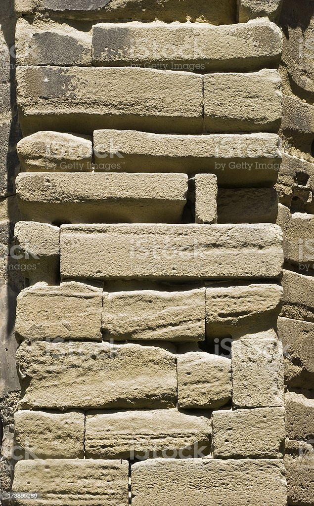 Detail of an Eroded Wall stock photo