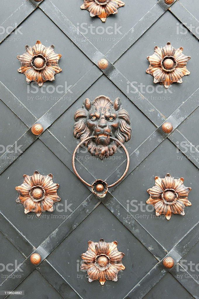 Detail of an iron door royalty-free stock photo