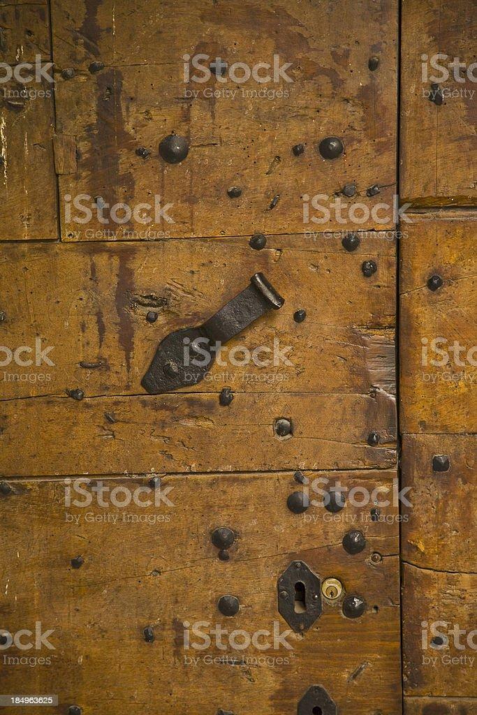 Detail of an oak door stock photo