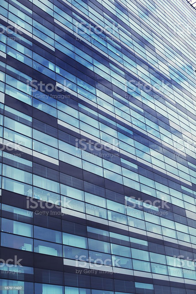 Detail of an office building in a business center royalty-free stock photo