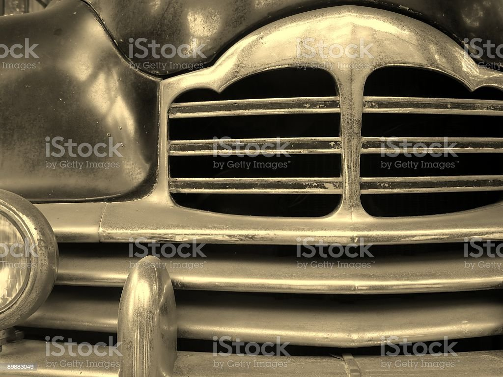 Detail of an Old Car stock photo